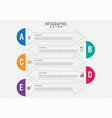 business infographic template with 5 options vector image vector image