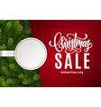 christmas sale with copy space on paper sticker vector image vector image