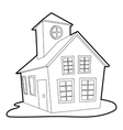 Colored house icon outline style vector image