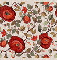 colorful floral pattern wallpaper with big vector image vector image