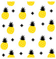 creative seamless pattern with yellow pineapples vector image