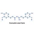 curcumin enol form vector image vector image