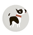 Cute bull terrier dog in a circle vector image