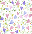 cute seamless texture with crocuses vector image vector image