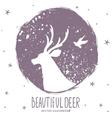 deer silhouette grunge vector image vector image