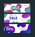 design for horizontal banners set web banners vector image vector image