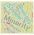 Diversity text background wordcloud concept vector image vector image