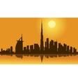 Dubai city skyline silhouette vector image vector image