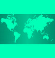 earth map on trendy green gradient background vector image vector image