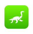 elasmosaurine dinosaur icon digital green vector image vector image