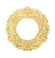 Elegant luxury retro golden floral round frame vector image vector image