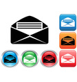 Email buttons set vector image