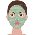 face mask vector image vector image