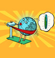 fat wants to lose weight character planet earth vector image