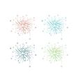 Fireworks design vector image