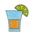 glass lemon doodle vector image vector image