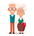 grandmother and grandfather together vector image vector image