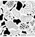 hand drawn ink doodle shapes seamless pattern vector image vector image