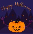 happy halloween pumpkin greeting card vector image vector image