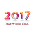 Happy New Year 2017 colorful greeting card