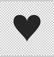 heart icon isolated on transparent background vector image