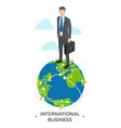 international business man vector image vector image