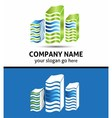 lines office building logo isolated vector image vector image