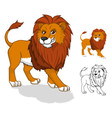Lion Cartoon Character vector image