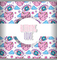 love and hearts pattern background vector image vector image