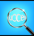Magnifying Glass Focus Success vector image vector image