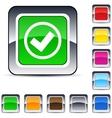 Mark square button vector image vector image