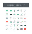 medical dental icon set with colorful modern flat vector image vector image
