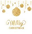 Merry christmas card with hand drawn lettering and