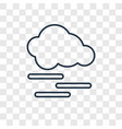 mist concept linear icon isolated on transparent vector image