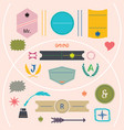 modern colorful and cute empty emblems set vector image vector image