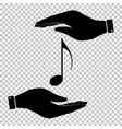 Music note sign vector image