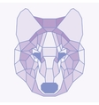 Pink lined low poly wolf vector image vector image