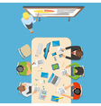 Professions Top View Composition vector image vector image