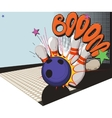 retro styled bowling game picture vector image vector image