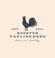 rooster chicken hen silhouette vintage retro vector image vector image