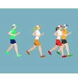 Run man and woman flat icons vector image