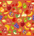 scattered fruits summer seamless pattern vector image vector image