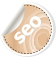seo word on business wooden app icon vector image vector image