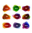 Set of colorful abstract banners Graphic banners vector image vector image