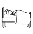 sleeping in bed vector image
