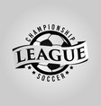 soccer league logo symbol vector image vector image