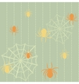 Spiders and web seamless background vector image