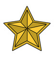 stars award symbol isolated vector image