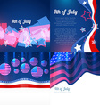 stylish set of 4th july american independence day vector image vector image