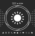 sun icon symbol graphic elements for your vector image vector image